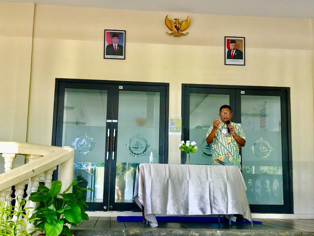 Abdul Wahab Selaku Pengawas Yayasan Bintan Resorts Menyampaikan Kata Sambutan