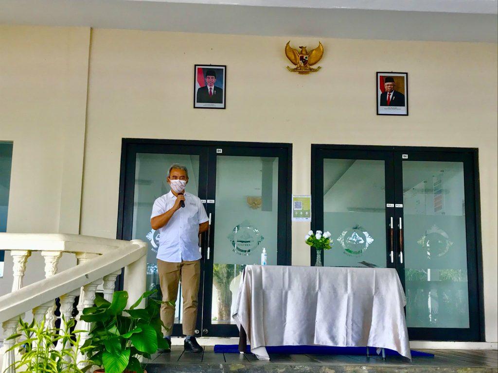 Aditya Laksamana Selaku Ketua Pengurus Yayasan Bintan Resorts Memberikan Kata Sambutan