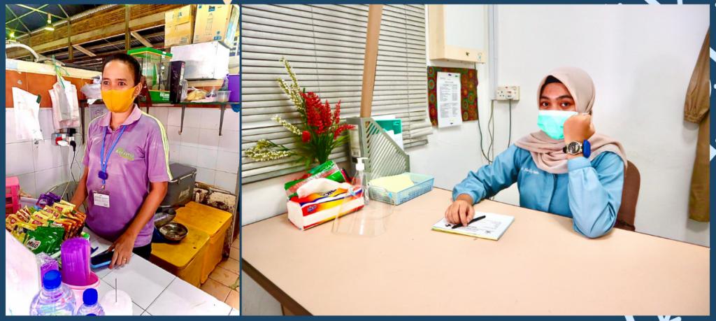 Pekerja Pujasera dan Tenaga Medis Klinik Pariwisata Lagoi Menggunakan BluePass